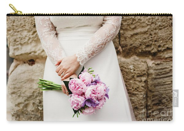 Colorful Bridal Bouquets With Flowers Carry-all Pouch