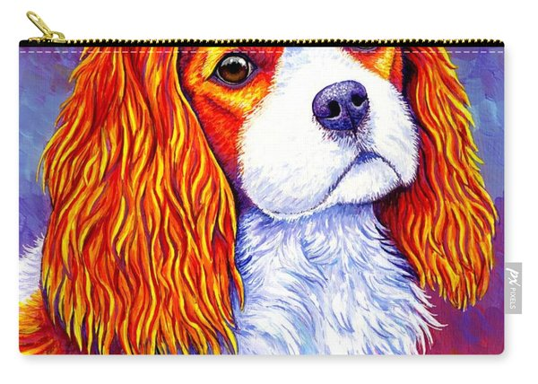 Colorful Cavalier King Charles Spaniel Dog Carry-all Pouch