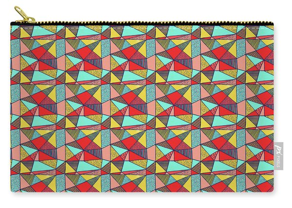 Colorful Geometric Abstract Pattern Carry-all Pouch