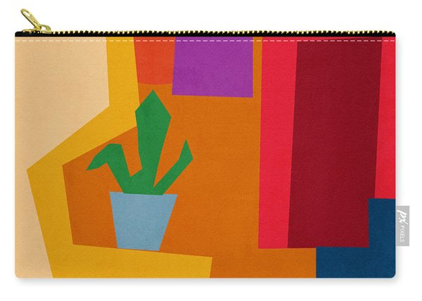 Colorful Geometric House 1- Art By Linda Woods Carry-all Pouch