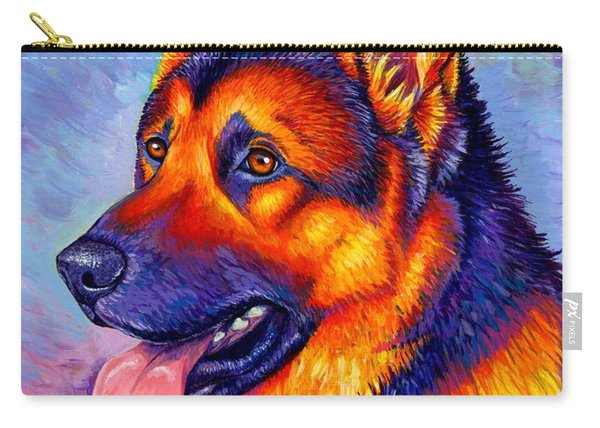 Colorful German Shepherd Dog Carry-all Pouch