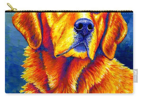 Colorful Golden Retriever Dog Carry-all Pouch