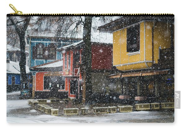 Colorful Koprivshtica Houses In Winter Carry-all Pouch