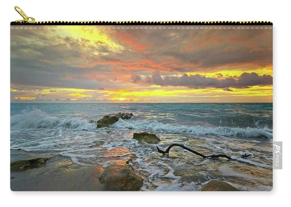 Colorful Morning Sky And Sea Carry-all Pouch