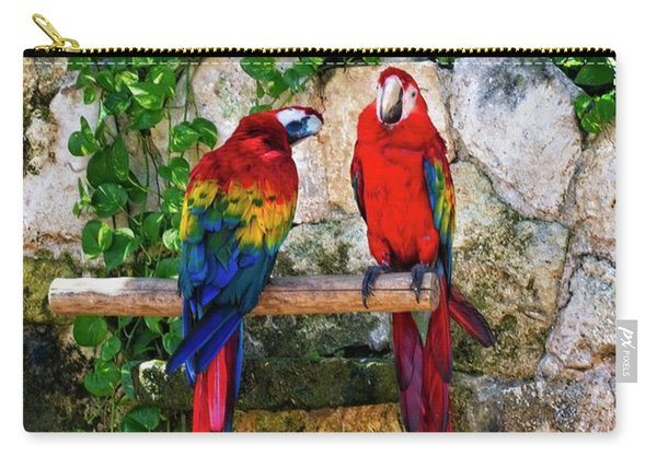 Colorful Parrots Carry-all Pouch
