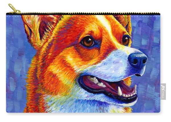 Colorful Pembroke Welsh Corgi Dog Carry-all Pouch