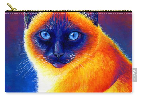 Jewel Of The Orient - Colorful Siamese Cat Carry-all Pouch