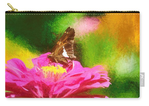 Carry-all Pouch featuring the photograph Colorful Silver Spotted Skipper Butterfly by Don Northup