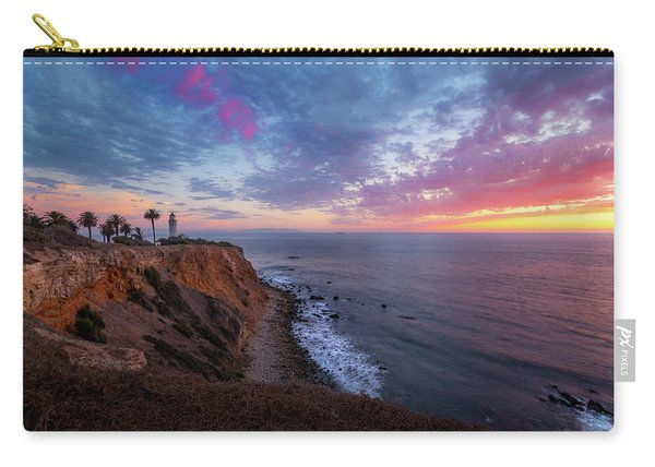 Colorful Sky After Sunset At Point Vicente Lighthouse Carry-all Pouch