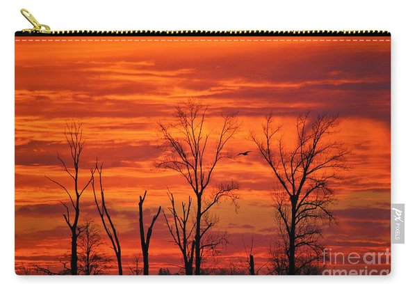 Colorful Sunrise Trees Carry-all Pouch