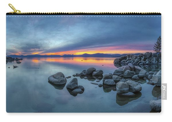 Colorful Sunset At Sand Harbor Panorama Carry-all Pouch