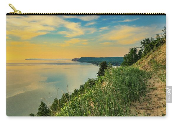 Colorful Sunset Sky Over Sleeping Bear Dunes Carry-all Pouch