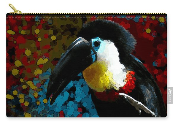 Colorful Toucan Carry-all Pouch