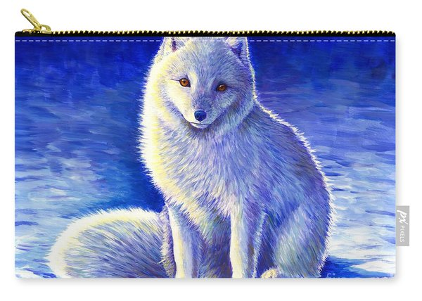 Peaceful Winter Arctic Fox Carry-all Pouch