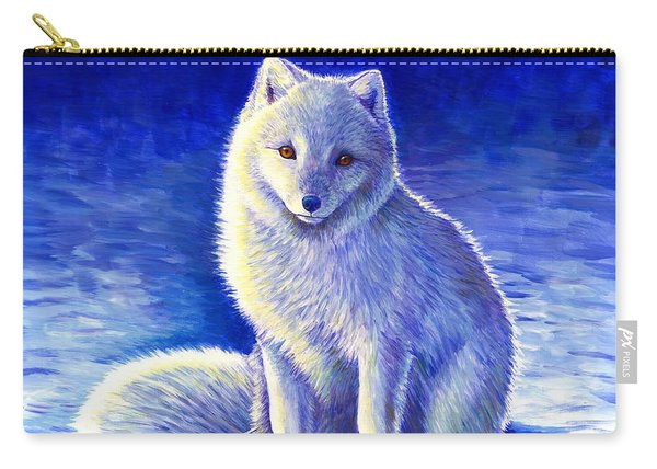 Colorful Winter Arctic Fox Carry-all Pouch