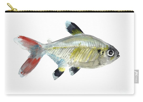 Colorful X-ray Tetra Fish Watercolor Carry-all Pouch