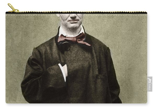 Colorized Portrait Of The Poet Charles Baudelaire  Carry-all Pouch
