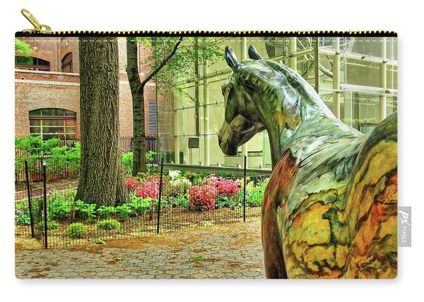 Coloured Horse Sculpture By Museum Of Natural History, Manhattan, New York Carry-all Pouch