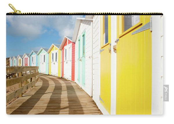 Colourful Bude Beach Huts Carry-all Pouch