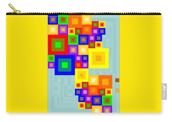 Colourful Cubism  Carry-all Pouch
