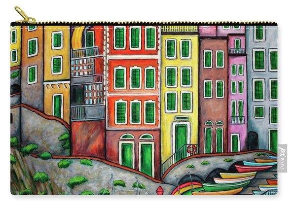 Colours Of Riomaggiore Cinque Terre Carry-all Pouch