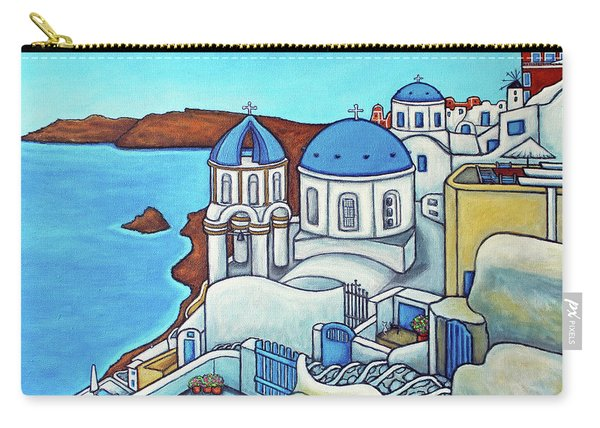 Colours Of Santorini Carry-all Pouch