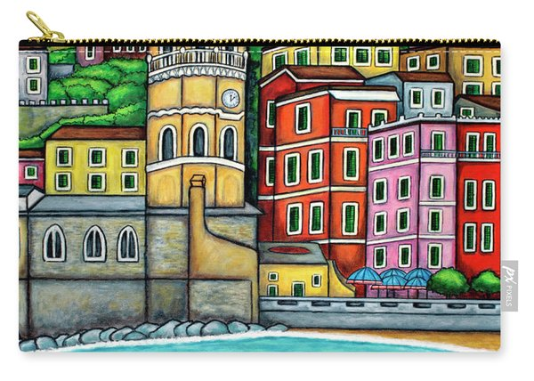 Colours Of Vernazza Carry-all Pouch