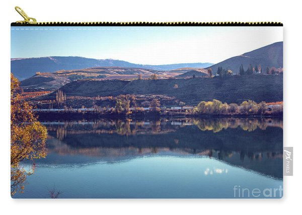 Carry-all Pouch featuring the photograph Train Reflection by Mae Wertz