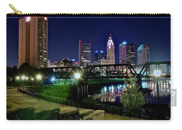 Columbus Night On The Scioto Riverfront Carry-all Pouch
