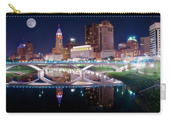 Columbus Ohio Full Moon Pano Carry-all Pouch