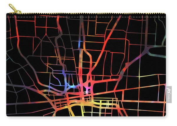Columbus Ohio Watercolor City Street Map Dark Mode Carry-all Pouch