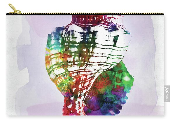 Conch Shell Colorful Watercolor Carry-all Pouch