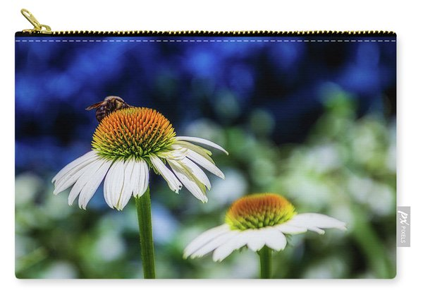 Coneflower With Bee Carry-all Pouch