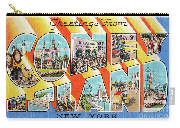 Coney Island Greetings - Version 1 Carry-all Pouch