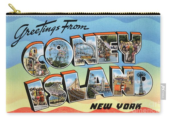 Coney Island Greetings - Version 2 Carry-all Pouch