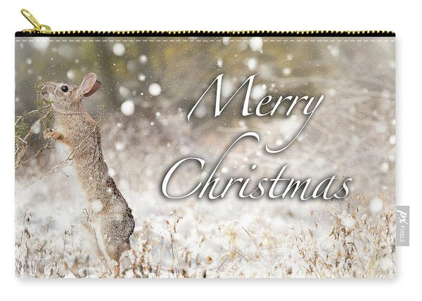 Conttontail Christmas Carry-all Pouch