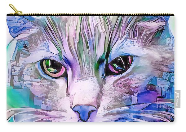 Cool Blue Cat Carry-all Pouch
