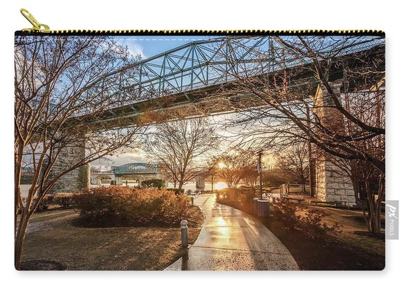 Coolidge Park Path At Sunset Carry-all Pouch