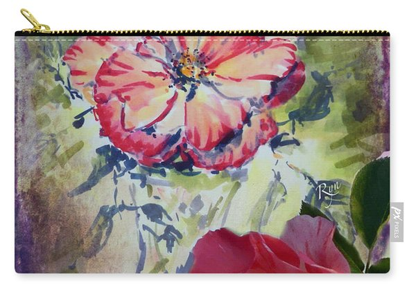 Carry-all Pouch featuring the mixed media Copic Marker Rose by Ryn Shell