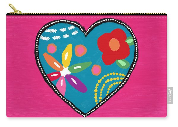 Corazon 2- Art By Linda Woods Carry-all Pouch