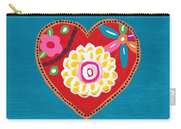Corazon 3- Art By Linda Woods Carry-all Pouch