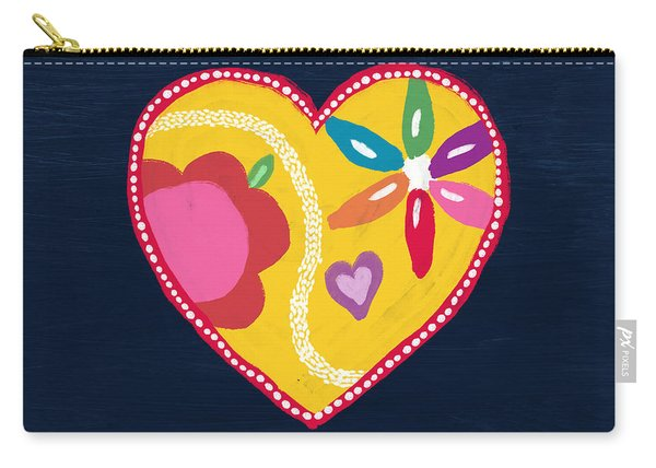 Corazon 4- Art By Linda Woods Carry-all Pouch