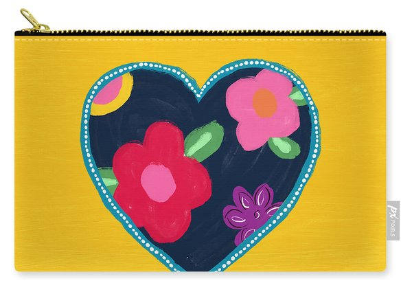 Corazon 5- Art By Linda Woods Carry-all Pouch