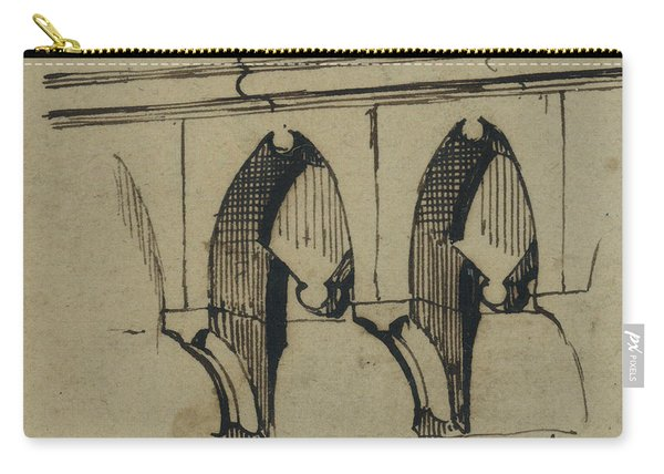 Corbel Table - Benieves, France Carry-all Pouch