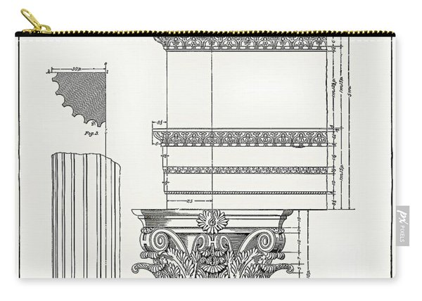 Corinthian Architecture Carry-all Pouch