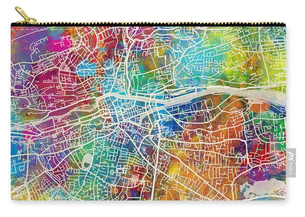Cork Ireland City Map Carry-all Pouch