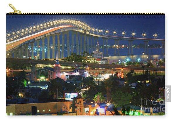 Coronado Bay Bridge Shines Brightly As An Iconic San Diego Landmark Carry-all Pouch