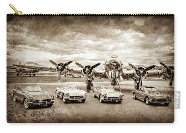 Corvettes And B17 Bomber -0027s Carry-all Pouch
