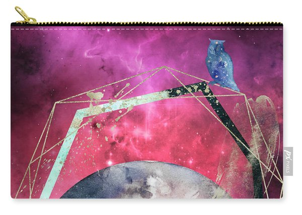 Carry-all Pouch featuring the digital art Cosmic Portal by Bee-Bee Deigner