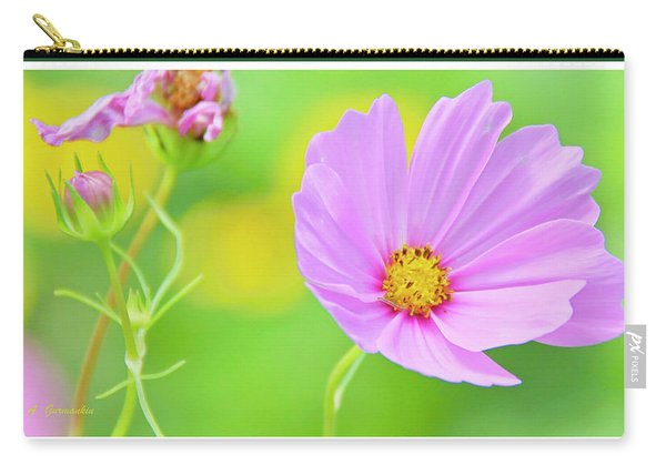 Cosmos Flower In Full Bloom, Bud Carry-all Pouch